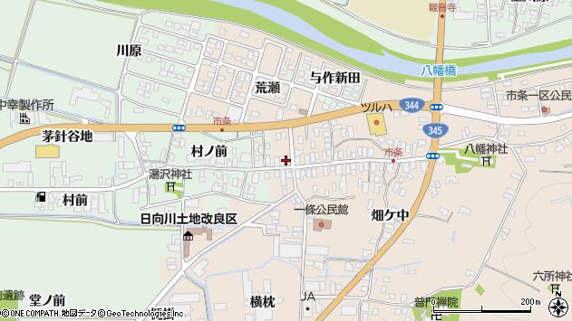 山形県酒田市市条水上45周辺の地図
