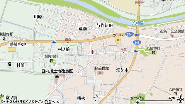 山形県酒田市市条水上47周辺の地図