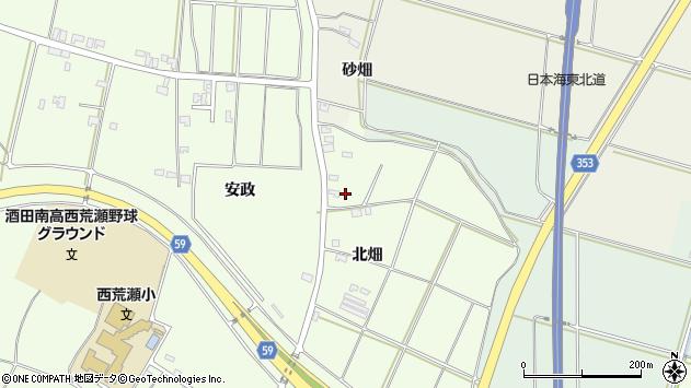 山形県酒田市藤塚北畑151周辺の地図