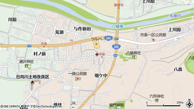 山形県酒田市市条水上58周辺の地図