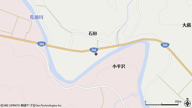 山形県酒田市大蕨石田前周辺の地図