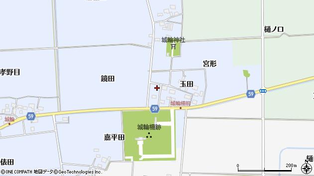 山形県酒田市城輪鏡田5周辺の地図