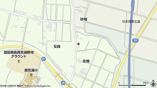 山形県酒田市藤塚北畑周辺の地図