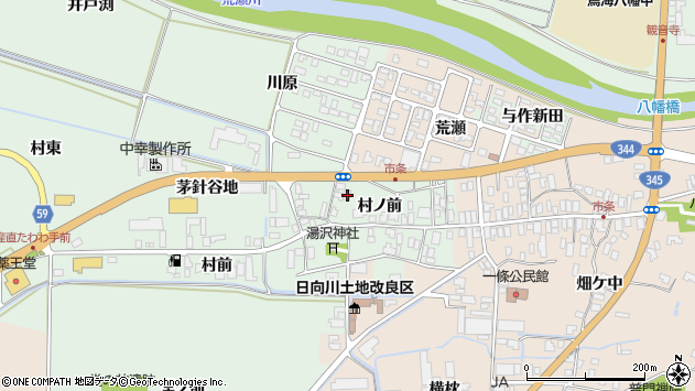 山形県酒田市法連寺村ノ前21周辺の地図