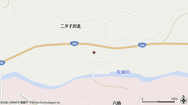 山形県酒田市大蕨二タ子58周辺の地図