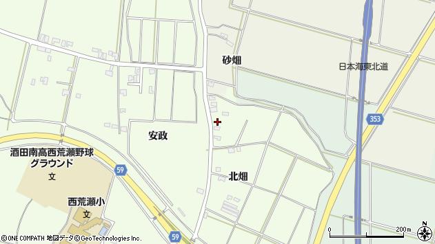 山形県酒田市藤塚北畑70周辺の地図