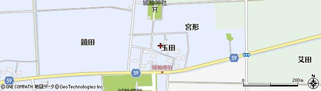 山形県酒田市城輪玉田53周辺の地図
