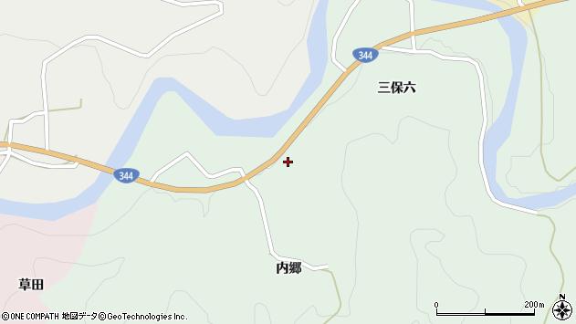 山形県酒田市上青沢内郷80周辺の地図