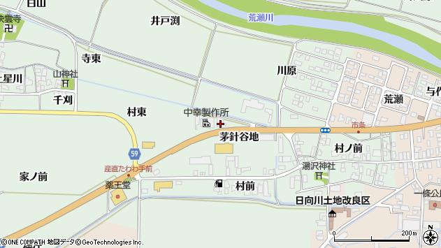 山形県酒田市法連寺茅針谷地13周辺の地図
