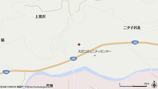 山形県酒田市大蕨下黒沢52周辺の地図