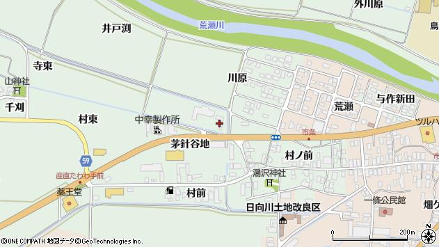 山形県酒田市法連寺茅針谷地77周辺の地図