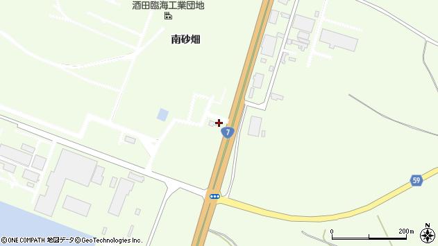 山形県酒田市宮海南砂畑4周辺の地図