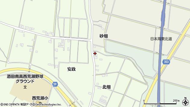山形県酒田市藤塚北畑72周辺の地図
