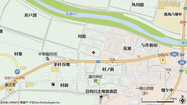 山形県酒田市法連寺川原38周辺の地図