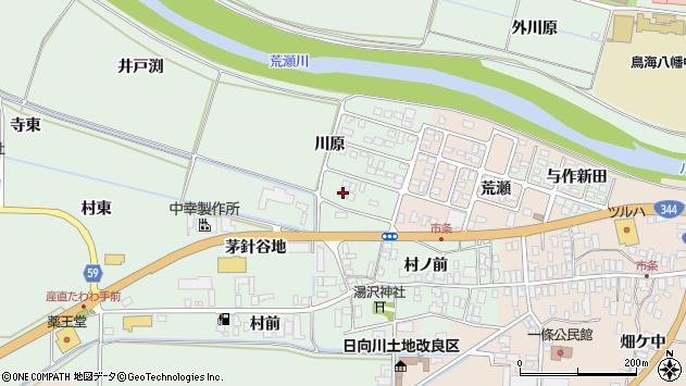 山形県酒田市法連寺川原20周辺の地図