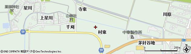 山形県酒田市大豊田村東周辺の地図