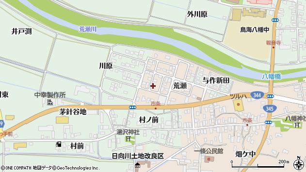 山形県酒田市市条荒瀬82周辺の地図