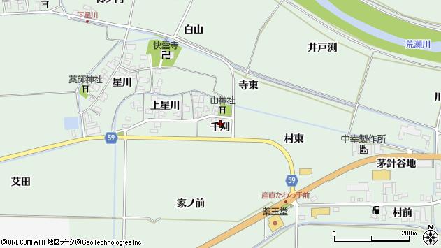 山形県酒田市大豊田千刈7周辺の地図
