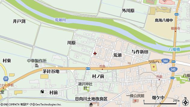 山形県酒田市市条荒瀬169周辺の地図