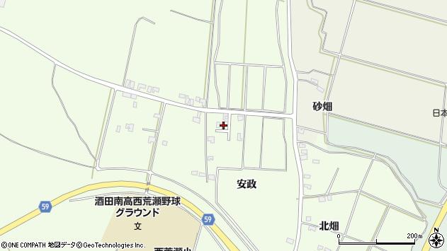 山形県酒田市宮海安政114周辺の地図