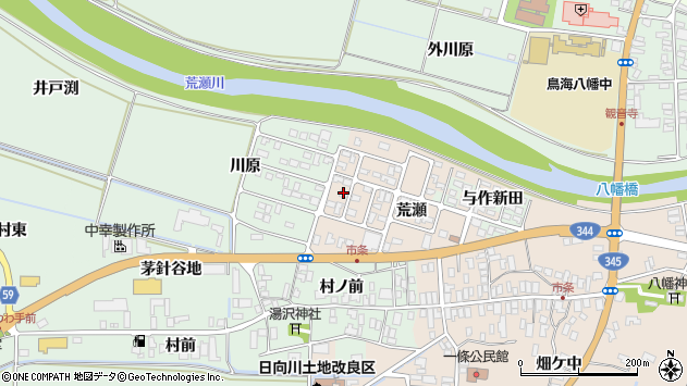 山形県酒田市市条荒瀬86周辺の地図