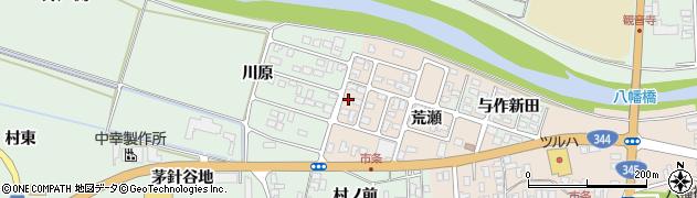 山形県酒田市市条荒瀬170周辺の地図