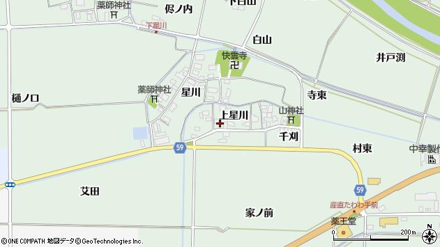 山形県酒田市大豊田上星川54周辺の地図