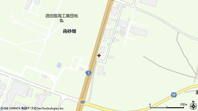 山形県酒田市宮海南砂畑周辺の地図