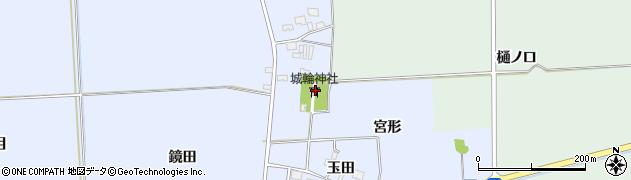 山形県酒田市城輪表物忌周辺の地図