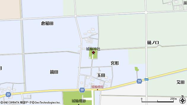 山形県酒田市城輪表物忌35周辺の地図