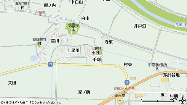 山形県酒田市大豊田上星川25周辺の地図