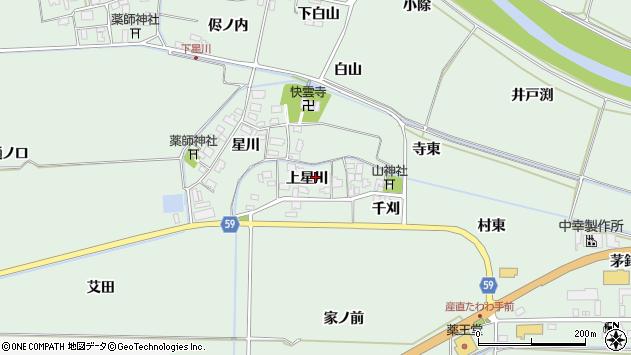 山形県酒田市大豊田上星川46周辺の地図
