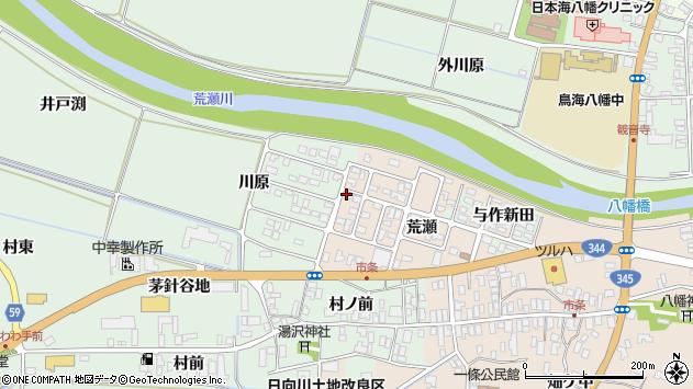 山形県酒田市市条荒瀬171周辺の地図