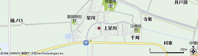 山形県酒田市大豊田上星川57周辺の地図