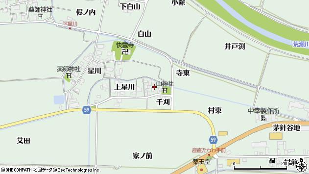 山形県酒田市大豊田上星川30周辺の地図