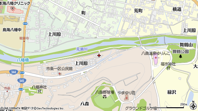 山形県酒田市市条上川原6周辺の地図