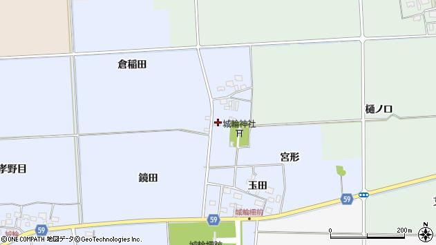 山形県酒田市城輪宮形9周辺の地図