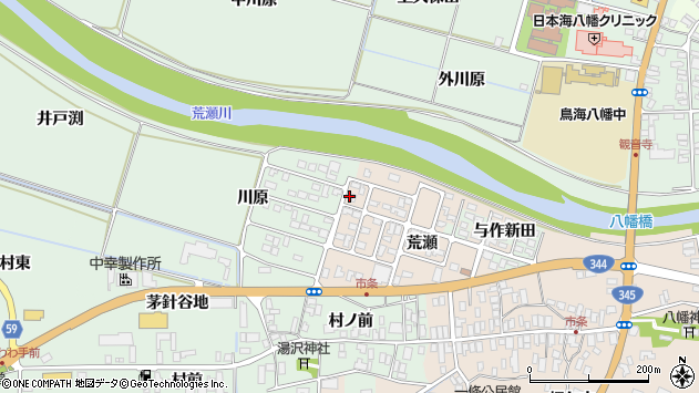 山形県酒田市市条荒瀬172周辺の地図