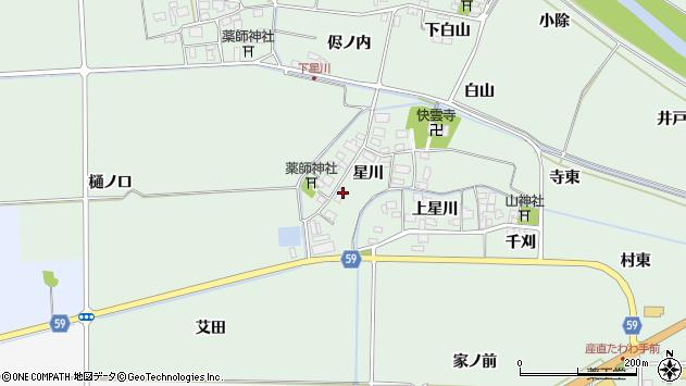 山形県酒田市大豊田星川24周辺の地図