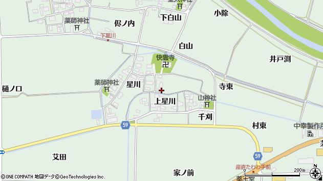 山形県酒田市大豊田星川2周辺の地図