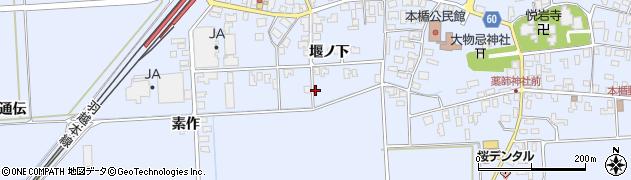 山形県酒田市本楯堰ノ下41周辺の地図