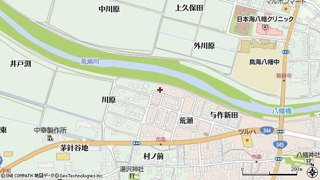 山形県酒田市市条荒瀬68周辺の地図