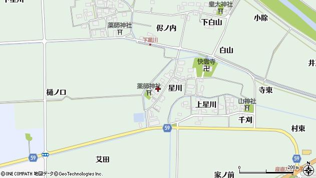 山形県酒田市大豊田星川26周辺の地図
