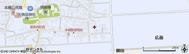 山形県酒田市本楯広面16周辺の地図
