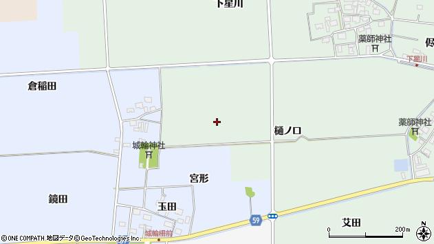 山形県酒田市大豊田樋ノ口周辺の地図