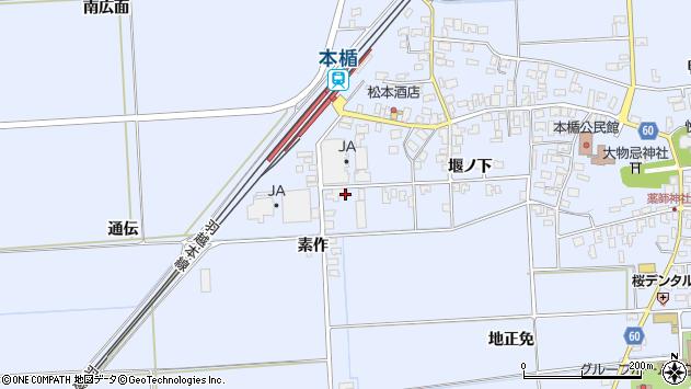 山形県酒田市本楯通伝52周辺の地図