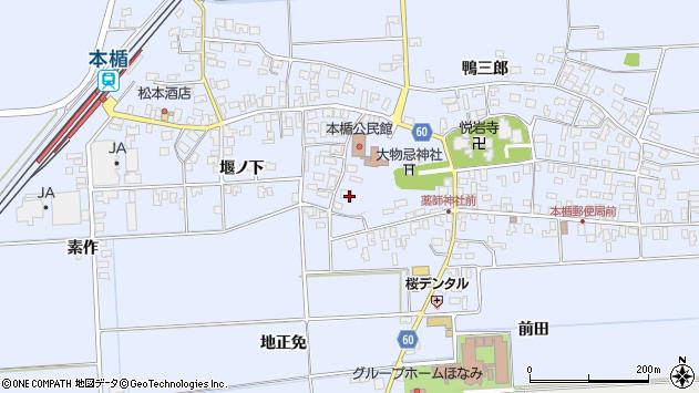 山形県酒田市本楯新田目97周辺の地図