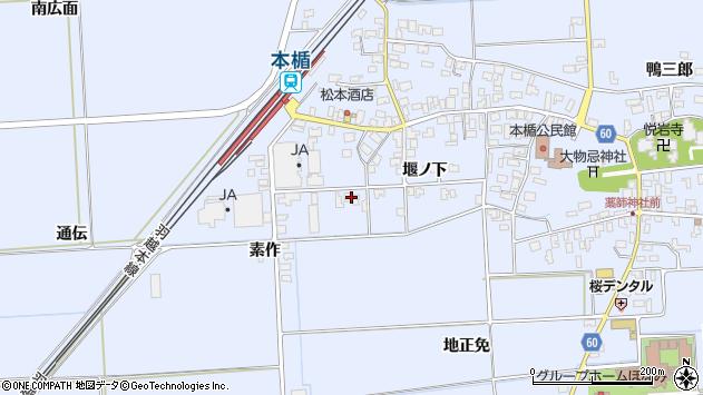 山形県酒田市本楯通伝42周辺の地図