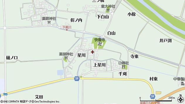 山形県酒田市大豊田星川13周辺の地図
