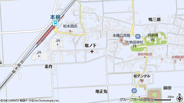 山形県酒田市本楯堰ノ下43周辺の地図